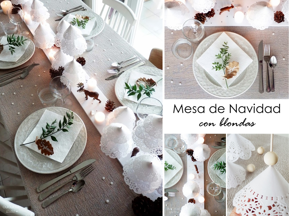 Decoracion facil mesa de navidad con blondas wonderful tables pinterest - Adornos mesa navidad ...