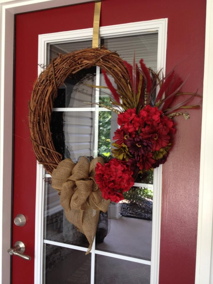 New Fall Wreath For Our Front Door My Craft Projects