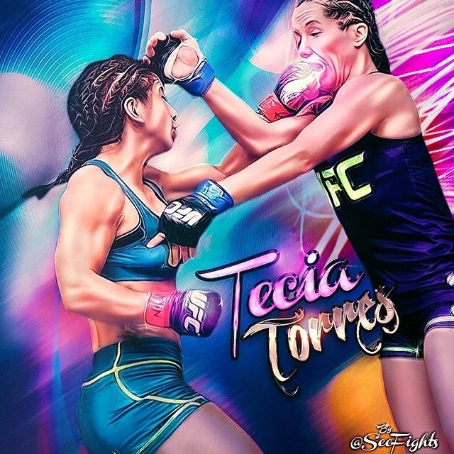 Digital Fan Art Of Female Fighter Tecia Torres If You Love Mma You Will Love The Mixedmartialarts And Ufc Inspir Ufc Poster Mixed Martial Arts Kickboxing