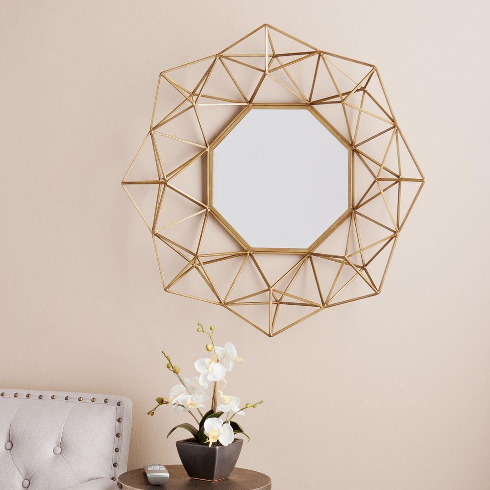 Southern Enterprises Flagler 29 In H X 30 In W Geometric Wall Mirror Mirror Decor Mirror Wall Modern Mirror Wall