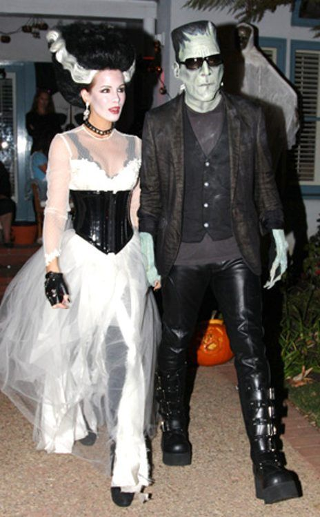 Kate beckinsale len wiseman from best celebrity halloween costumes kate beckinsale husband as frankensteins monster and bride of frankenstein solutioingenieria Choice Image