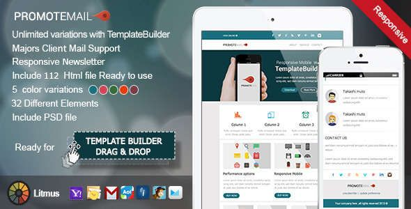 Absolute Best Responsive Email Templates Responsive Email - Free html email template builder