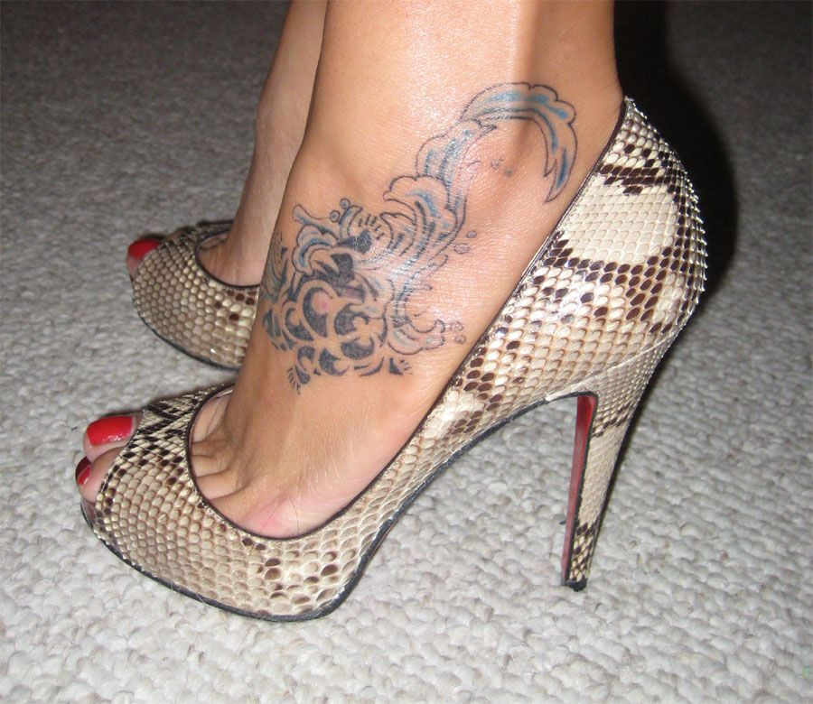 Doo Yoo Tattoo High Heel Tattoos Ankle Tattoos For Women Ankle Tattoo
