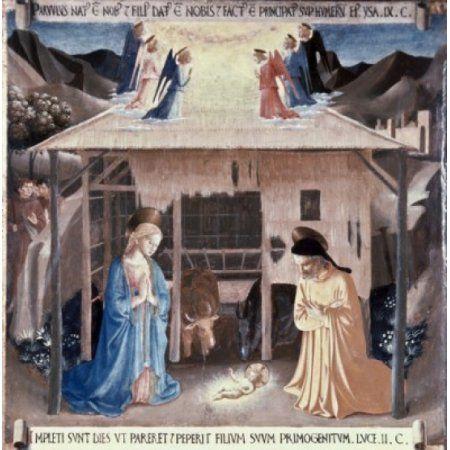 The Nativity 1438-1445 Fra Angelico (ca1395-1455 Italian) Fresco ...