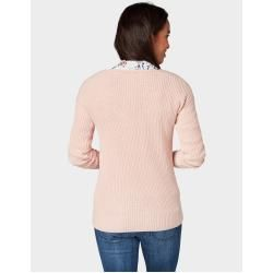 Photo of Tom Tailor Women's knitted pullover with lace pattern, pink, plain, size xxl Tom TailorTom Tailor