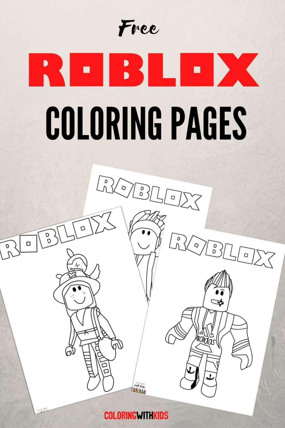 Free Roblox Coloring Pages In 2020 Coloring Pages Roblox Free Birthday Stuff