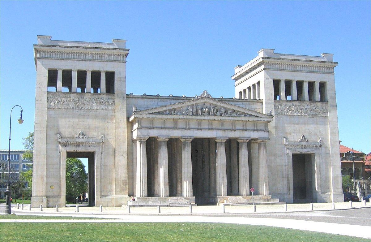architettura neoclassica propilei a monaco 1846 50