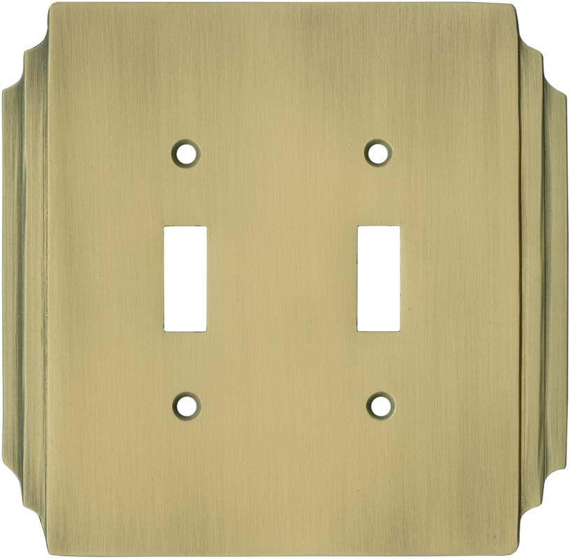 Antique Brass Wall Plates Fascinating Art Deco Miami Beach Antique Brass Switch Plates Outlet Covers Decorating Design