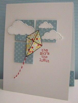 Kite card by Nancy Riley
