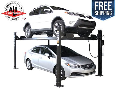 4 Post Parking Car Lift Atlas Apex 8 Ali Cert Hobbyist 8 000 Lb Cap 4 Post Car Lift Car Lifts Four Post Lift
