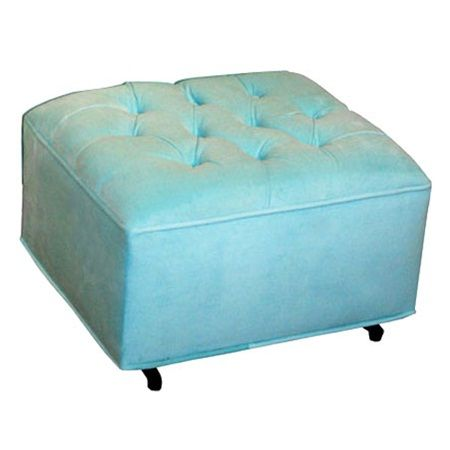 Grand Ottoman Aqua Velvet Smooth back and forth gliding motion. Cleans easily with mild soap and water Perfect arm height for the nursing Mom Made in the USA!