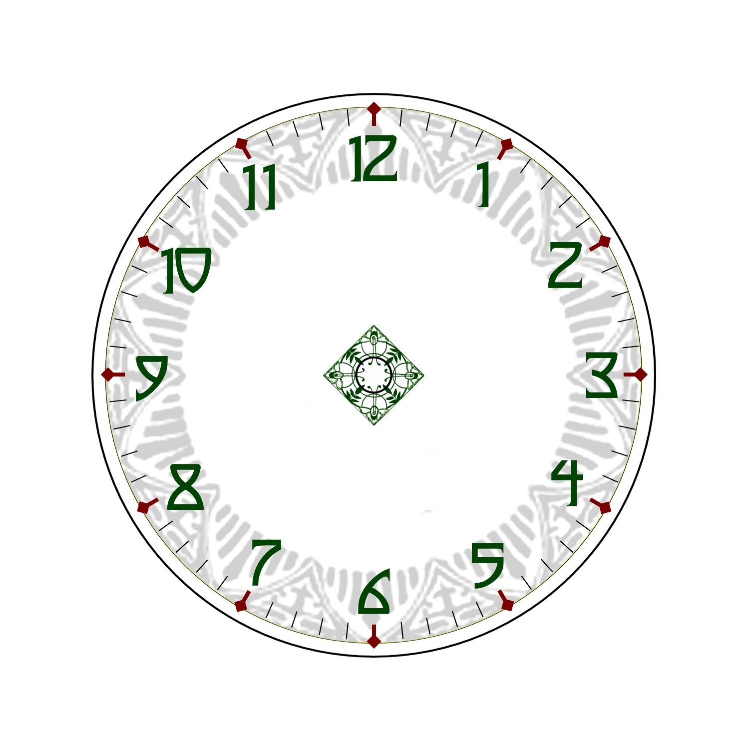 Free Clock Faces Printable | Clock faces for hobby woodworking