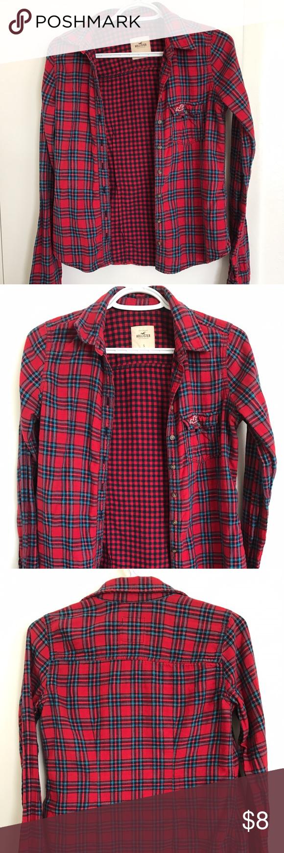 Hollister plaid shirt Size S Hollister Tops Button Down Shirts