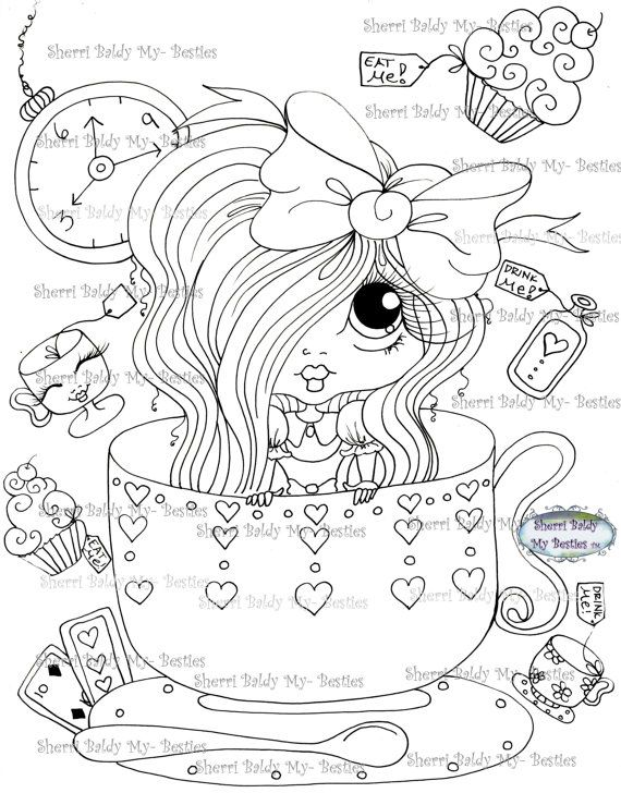 INSTANT DOWNLOAD Digital Digi Stamps Big Eye Big Head Dolls Img172 ...