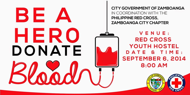 Poster design on blood donation - Donate Blood September 6 2014