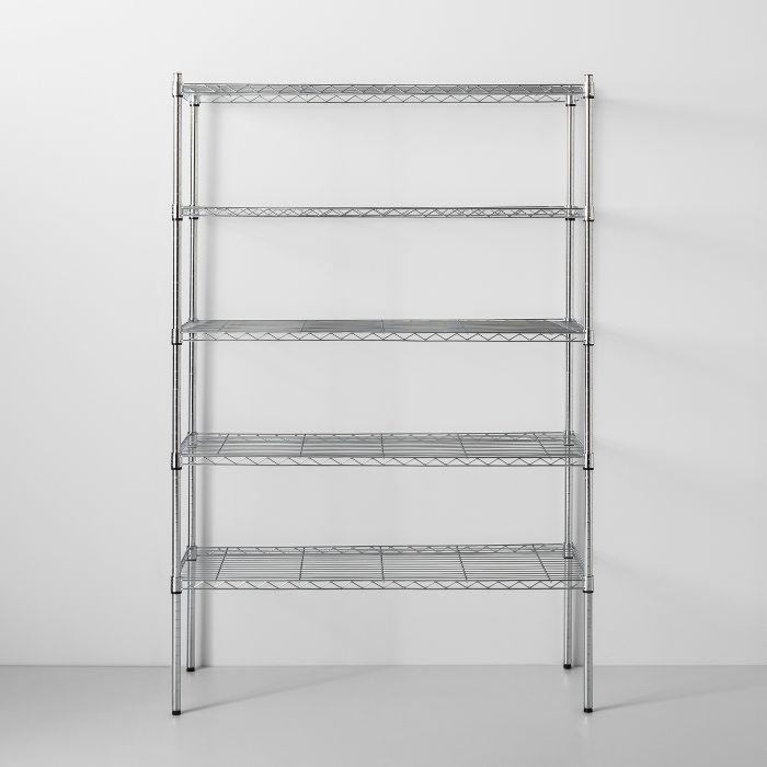 5 Tier Wide Wire Shelf Made By Design In 2020 Wire Shelving Made By Design Wire Pantry Shelves