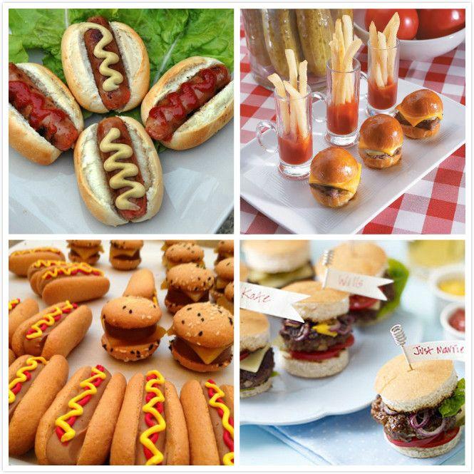 Mini Burgers & Hotdogs For Wedding