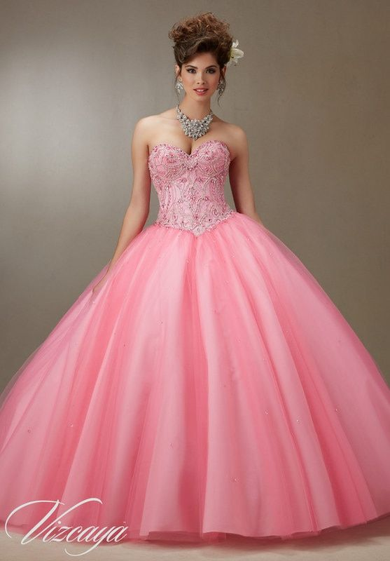 e490c8432e9 Quinceanera Dress Embroidery And Beading On A Tulle Ball Gown in ...