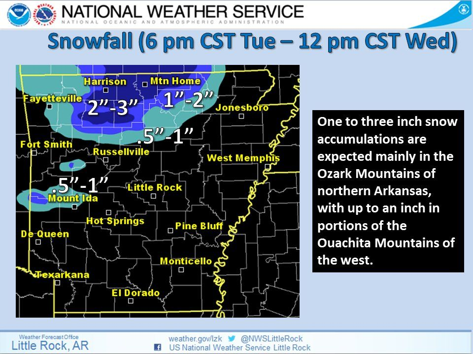 says For Little Rock & Central Arkansas Thru Tonight