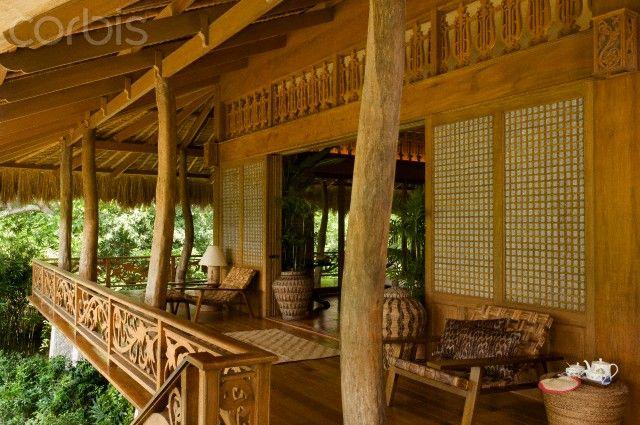 Capiz Sliding Walls Philippine Houses Bamboo House Design