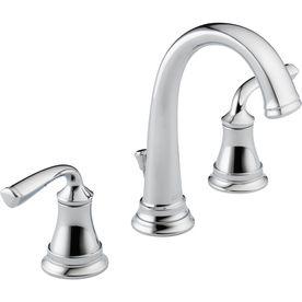 Shop Delta Lorain Chrome 2 Handle 4 In Centerset Watersense Bathroom Faucet Drain Included At Bathroom Faucets Bathroom Faucets Chrome Farmhouse Sink Faucet