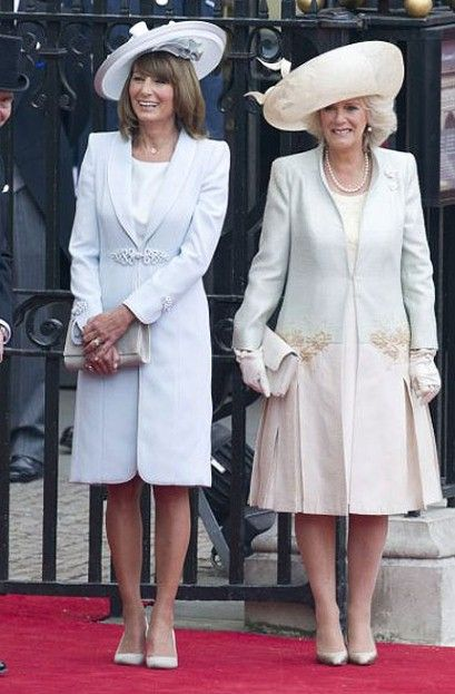 Mother Of The Bride Carole Middleton And Step Mother Of The Groom The Duchess Of Cornwall Both
