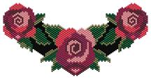 Roses Choker Peyote Pattern by Charley Hughes AKA BeadyBoop at Bead-Patterns.com