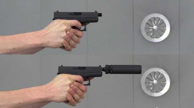 A compact suppressor for Glock 42 and SiG P238 by B&T  Item
