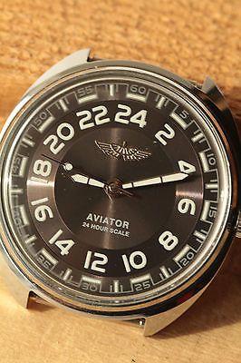 "Raketa 24 #hours "" aviator black"" good mens watch  #vintage  #soviet   3nж,  View more on the LINK: http://www.zeppy.io/product/gb/2/182219019494/"