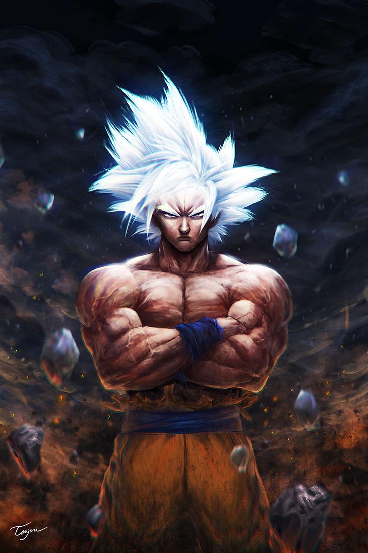 Artstation Fanart Master Ultra Instinct Goku Tra Linh Anime Dragon Ball Super Dragon Ball Super Goku Dragon Ball Super Manga