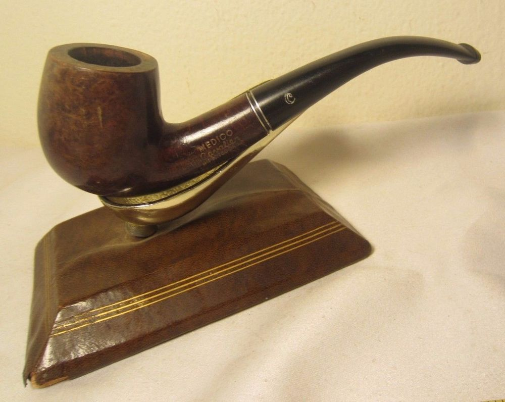 Vintage Medico Cavalier Full Bent Billiard Estate Briar Tobacco Smoking Pipe