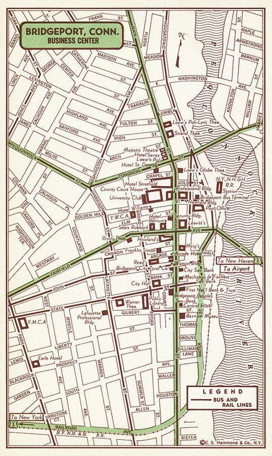 Bridgeport Wall Art Bridgeport Map Art Bridgeport Map Decor