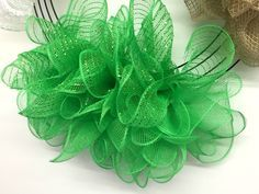 """Photo of 10 """"Lime Green Deco Poly Mesh"""