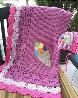 مربعات كروشية مع البترونات بطانية بيبي مفارش كروشية للأطفال بطانية كروشية سهلة Crochet Blanket Crochet Afghan Patterns Free Baby Blanket Crochet