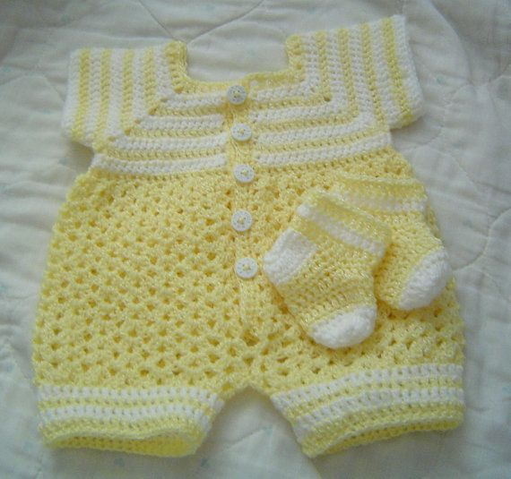 0064 Baby Boys Yellow Sunshine 2PC Pattern by CARUSSDESIGNZ