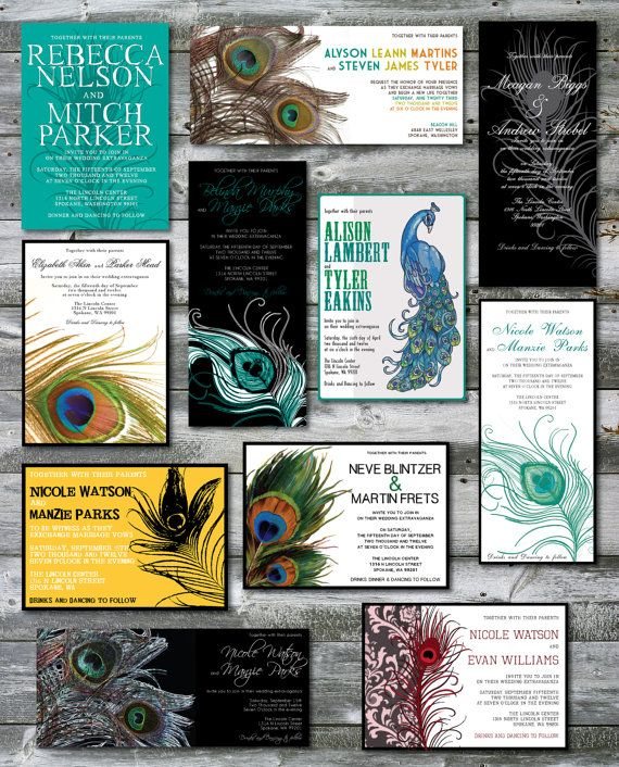 Peacock Wedding Ideas Etsy: Peacock Themed Wedding Invitations By Papermadeinvites On