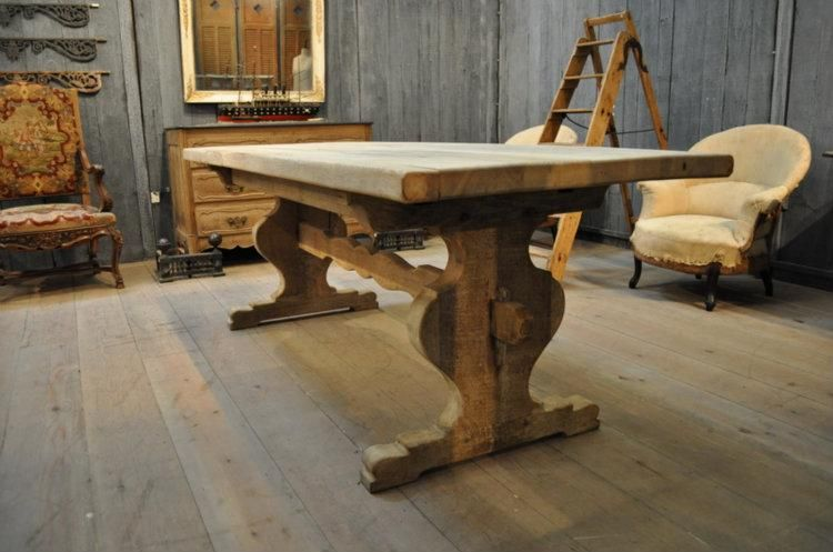 Oak Trestle Table French Farmhouse Table Dining Table Farm