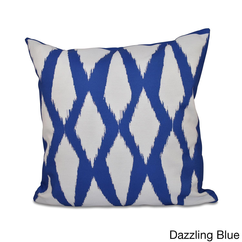 Shop home decor chevron stripes pillow from shop home decor - E By Design 18 X 18 Inch Geometric Decorative Throw Pillow Dazzling Blue
