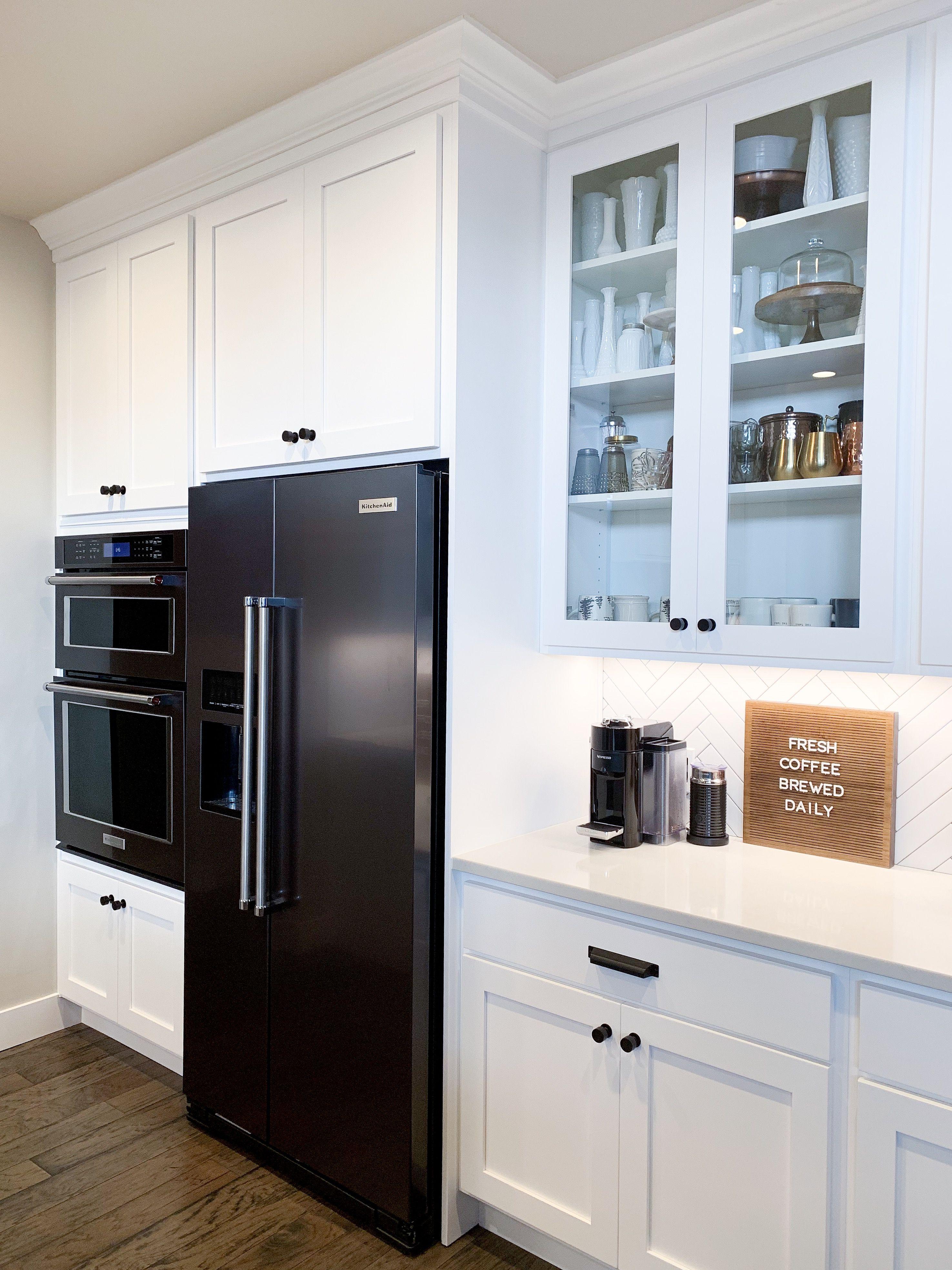 Our Modern Farmhouse White Kitchen Kitchen White Kitchen Moldings And Trim