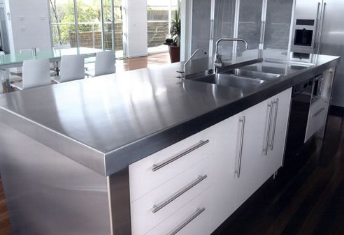 Residential Stainless Steel Kitchen Benchtop