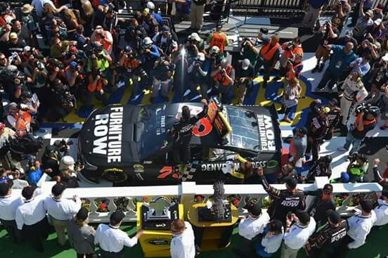 Mark Truex Jr win at Pocono 2015