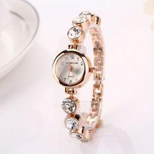 404a390603c Estilo relógio de ouro relógio Relojes mulheres relógio de pulso relógios  relógio feminino relógios de pulso inoxidável ouro 1XR720(China (Mainland))