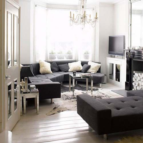 Pin By Vy S2 On Dream House 2 Black Living Room Monochrome Living Room Black And White Living Room Black white living room decor