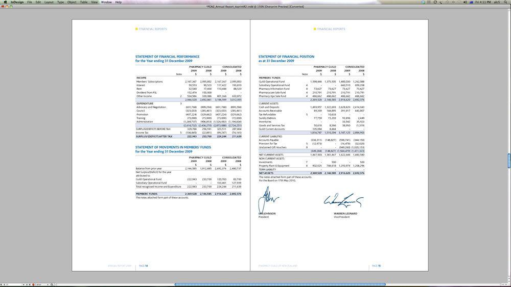 financial report design