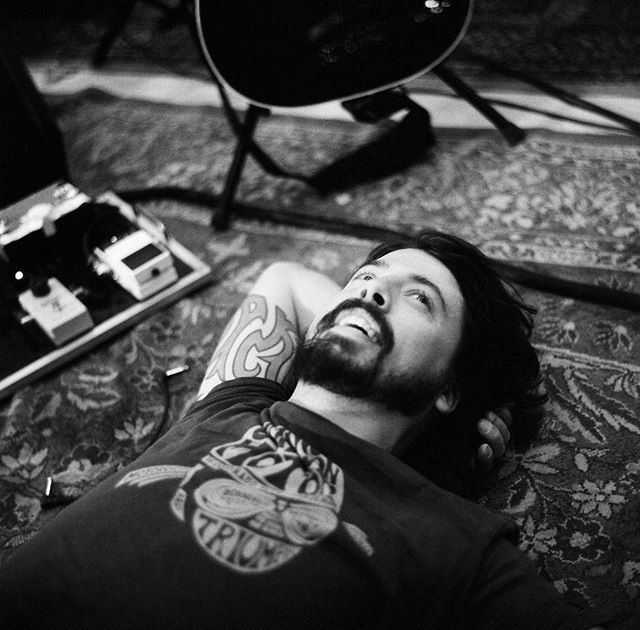 I've had the good fortune to work with this all around #coolguy for years. So when #davegrohl called and said he wasn't into another staged photo shoot and a day of wardrobe changes and instead proposed I stop by a Foo #practicesession in the #valley, we were speaking the same language.  This #candid shot of Dave between sets may be one of my #alltimefavorites and it proved to me that there was a place for documentary photography commercially, and reaffirmed that film was not dead. First this...