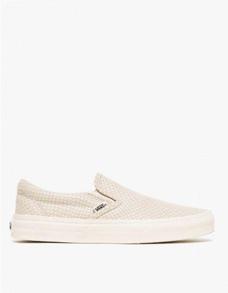 vans slip-on low-top beige
