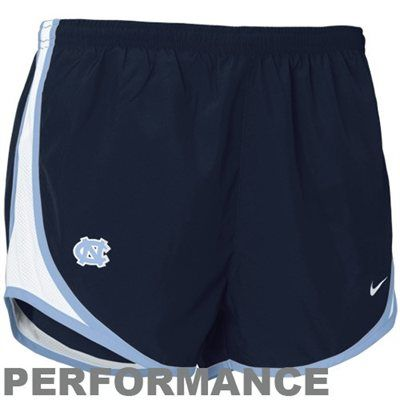 3c78771140c2fe Nike North Carolina Tar Heels (UNC) Ladies Navy Blue NikeFIT Tempo  Performance Training Shorts