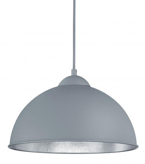 Harmaa-hopea Trio Jimmy -kattovalaisin sopii keittiön tai makuuhuoneen tyylikkääksi valonlähteeksi. Metallia. Tutustu laajaan Trio-valaisinvalikoimaan!