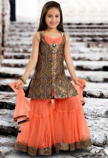 66a17f8083b4 Beautiful Sharara for kids | Indian wear in 2019 | Kids party wear ...