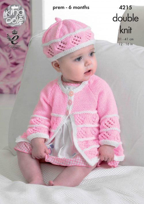 Matinee Coats, Cardigan, Beret and Hat - King Cole | BEBES NENAS ...
